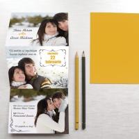 {Love Story}: Invitatie de nunta de iarna cu album foto ilustrat