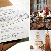 {Baroque}: Invitatii de lux pentru nunta cu tema medievala