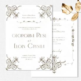 YorkDeco - British Glamour - invitatie de nunta luxurianta inspirata de Downton Abbey