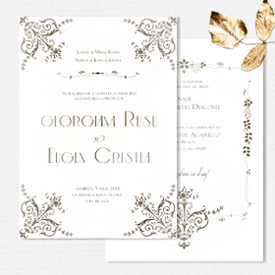 YorkDeco - British Glamour - invitatie de nunta luxurianta inspirata de Downton Abbey