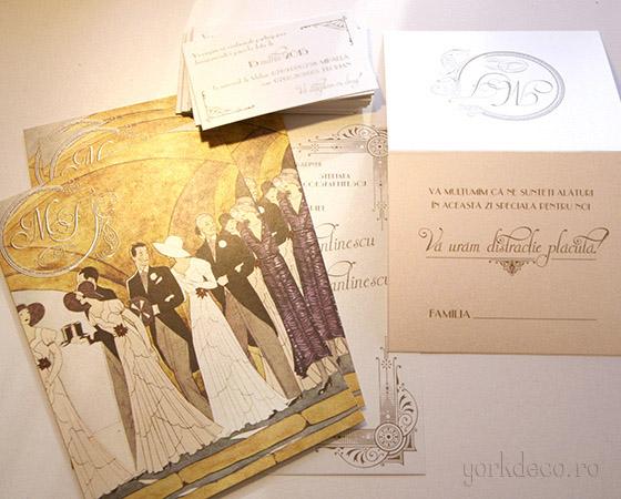 Invitatii Nunta Art Vintage Yorkdeco Atelier Invitatii Nunta