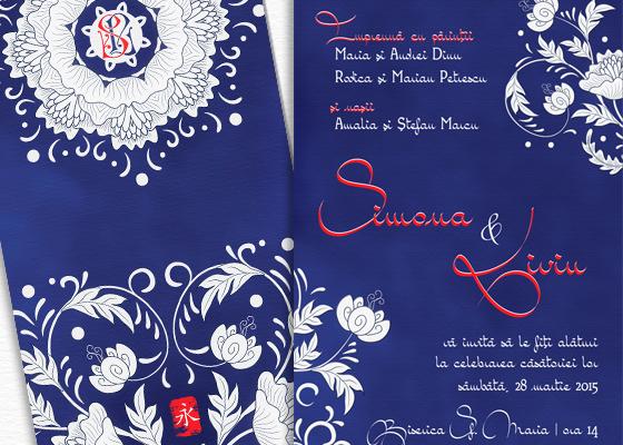 Invitatie de nunta eleganta orientala