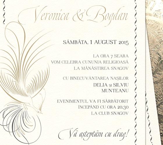 invitatii nunta elegante - Paradise