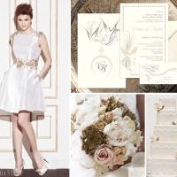 {Paradise}: Invitatie de nunta eleganta exotica