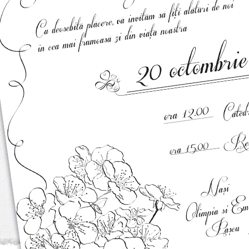 Invitatii nunta modele unicat - Ana - YorkDeco