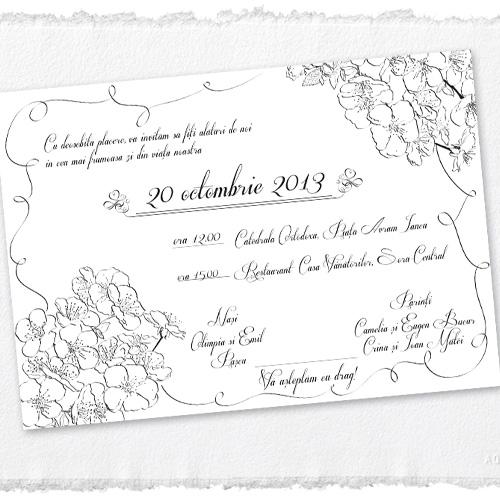 Invitatii nunta unicat ilustrate- Ana - YorkDeco