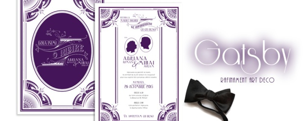 invitatii nunta de lux - Gatsby - YorkDeco