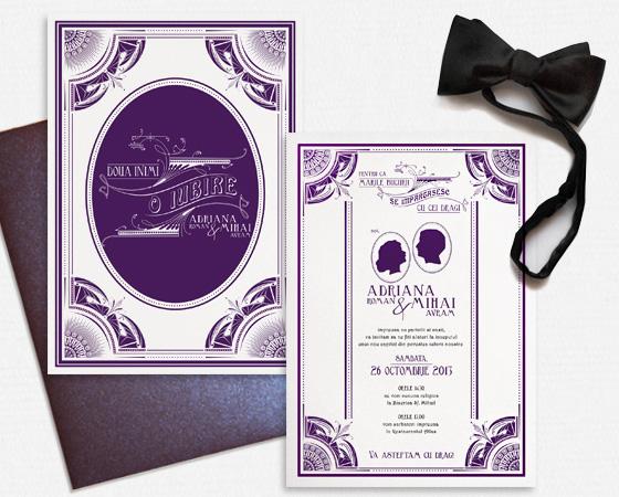 invitatii nunta elegante - Gatsby - YorkDeco