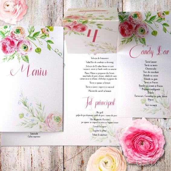 accesorii nunta cu trandafiri roz