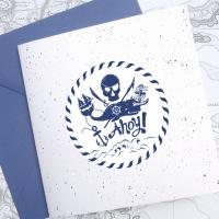 {Mihaita}: Invitatie de botez pentru baietel cu tema pirati