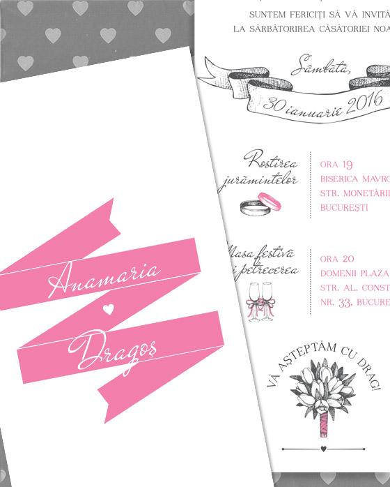 Invitatii de nunta simple, ilustrate - Lola - YorkDeco (4)