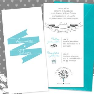 Invitatii de nunta simple, ilustrate - Lola - YorkDeco (5)