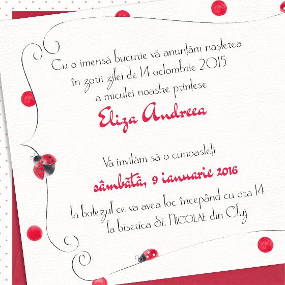 invitatie de botez eleganta pentru fetita cu buburuze - Eliza - YorkDeco (3)