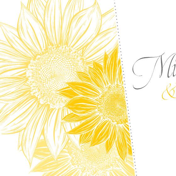 invitatie de nunta eleganta cu floarea soarelui - Bouquet dOr - YorkDeco (3)