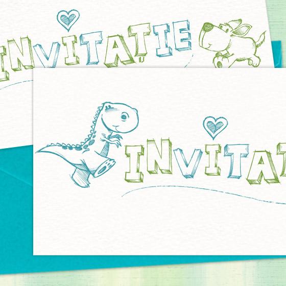 Invitatie botez baietel, simpla si moderna, ilustrata cu animalute - YorkDeco (2)