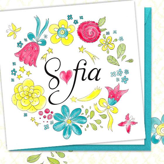 Invitatie de botez florala pentru fetita - Sofia - YorkDeco (2)