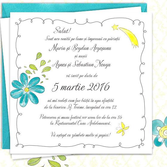 Invitatie de botez florala pentru fetita - Sofia - YorkDeco (3)