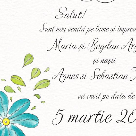 Invitatie de botez florala pentru fetita - Sofia - YorkDeco (4)