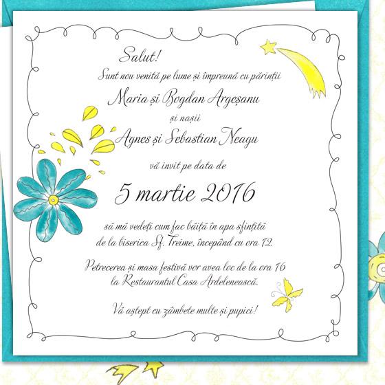 Invitatie de botez florala pentru fetita - Sofia - YorkDeco (6)