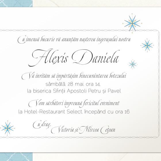 Invitatii botez de lux - Alexis - YorkDeco