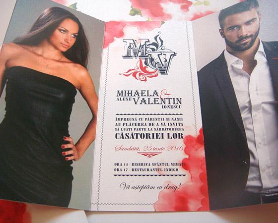 Invitatii nunta de lux cu poza - Tango - Yorkdeco
