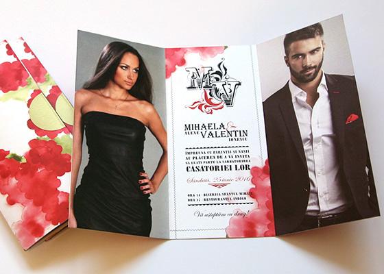 Invitatii nunta elegante cu foto - Tango - Yorkdeco