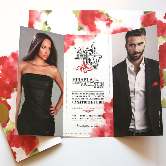 Invitatii nunta elegante cu fotografie - Tango - Yorkdeco (1)