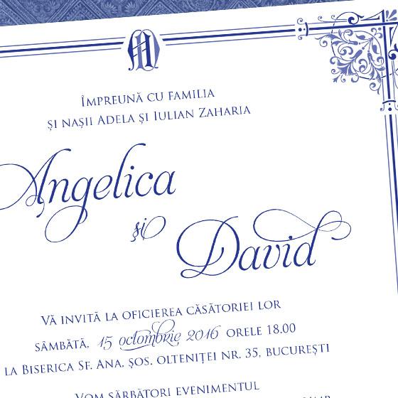 Invitatii nunta de lux - Royal Affair - Yorkdeco
