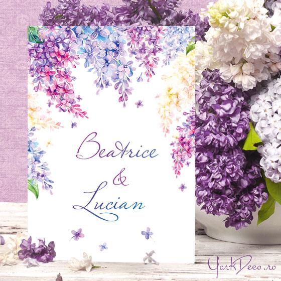 Lilac Invitatii Nunta Cu Flori De Liliac Yorkdeco Atelier