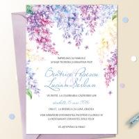 Invitatii de primavara cu flori de liliac