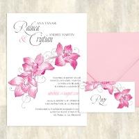 {Caledonia}: Invitatii nunta cu orhidee