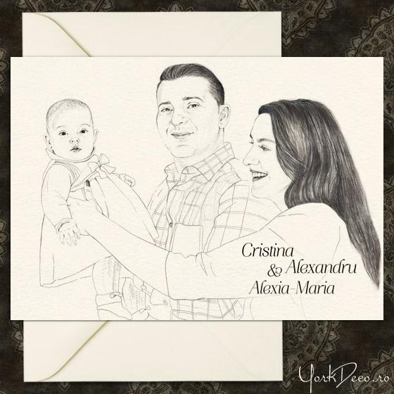invitatii-botez-unicat-cu-portret-desenat-cristina-si-alexandru-yorkdeco