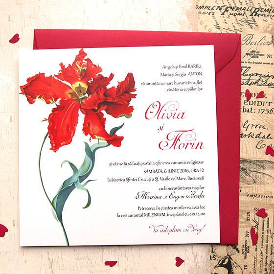 Invitatii nunta cu lalea - Rococo - Yorkdeco (1)