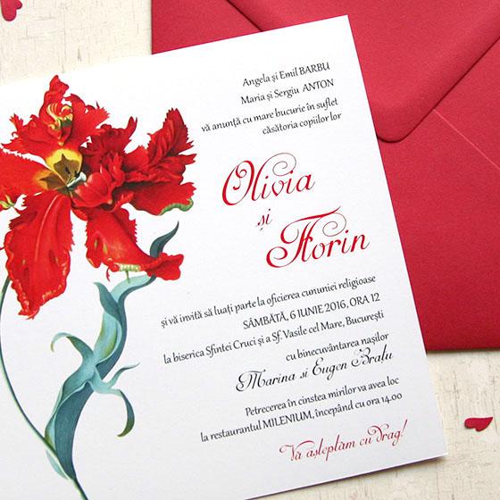 Invitatii nunta cu lalea - Rococo - Yorkdeco (2)