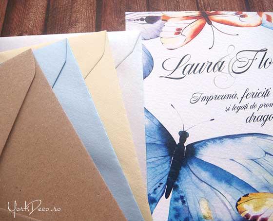 promise-invitatii-nunta-cu-fluturi-in-acuarela-plicuri