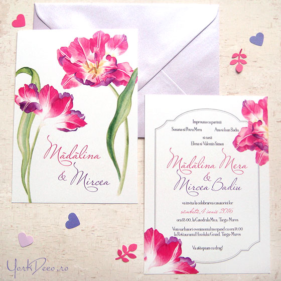 {Angelique}: Invitatii de nunta cu lalele