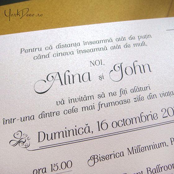 Portret Plus Invitatii De Nunta La Comanda Cu Portretul Mirilor