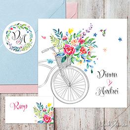 summer-time-invitatii-nunta-de-vara-cu-bicicleta-flori-acuarela-si-sticker-personalizat_263