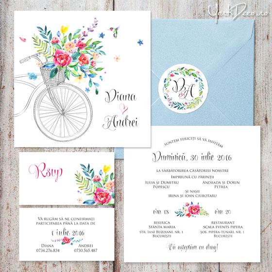 invitatii-de-nunta-moderne-cu-bicicleta-summer-time