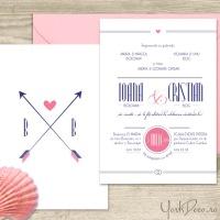 {Hemingway}: Invitatii de nunta cu tema maritima si design simplu, elegant