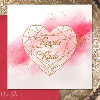 {Diamond}: Invitatii si accesorii nunta cu inima de diamant