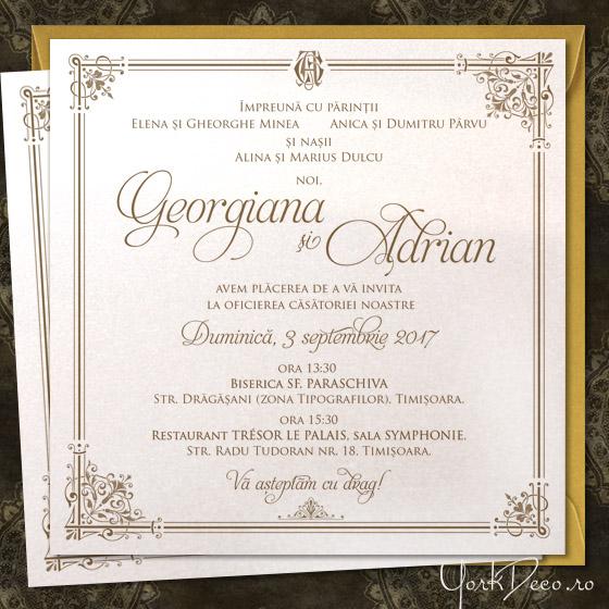 A Royal Affair Invitatii Nunta Regale In Nuante De Ivoire Si