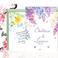 Invitatii nunta acuarela