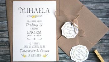 Fantasia Invitatii Si Accesorii De Nunta In Acuarela Cu Frunze Gri