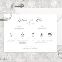 Invitatie simpla cu programul nuntii