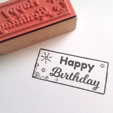 Ștampilă Happy Birthday