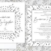 Invitatii Nunta Simple-Moderne