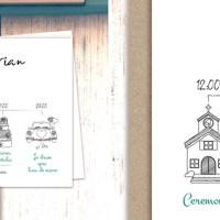 Invitatii cu programul nuntii si sticker personalizat