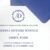 Invitatie pentru nunta de inspiratie greceasca